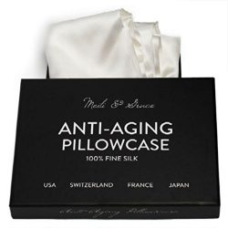 Anti-Aging Silk Pillowcase By Meili & Grace-the Best Silk Pillowcase for Your Face and Hair  ...