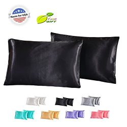 Silk Satin Pillowcase Standard USA For Hair And Skin Hypoallergenic King Size Silk Pillowcase Qu ...