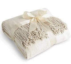 Luxury Pure 100% Mulberry Silk Throw, Genuine Natural 100% Silk Oversized Super Soft Plush Blank ...