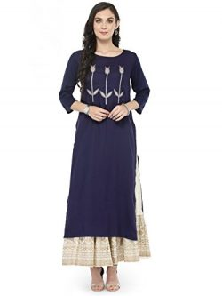 Designer Kurta Kurti Indian Women Bollywood Tunic Ethnic Pakistani Top Crepe Kurtis Dress Tunics ...
