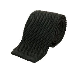 Benchmark Ties 100% Silk Knit Tie in Forest Green (2.5″ / 6.5cm Wide)