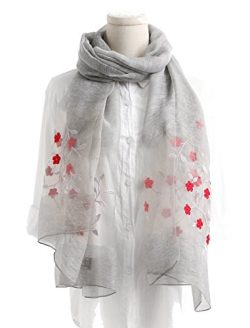 WS Natural Silk Scarf / Shawl / Wrap /Sheer For Women Lightweight Fashion Scarves With Gift Pack ...