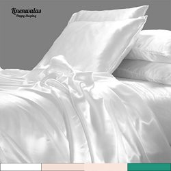 California King Bamboo Sheets – White Bed Sheet Set – Anti Bacterial And Thermal Reg ...