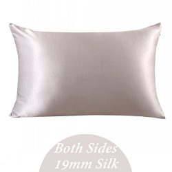 ZIMASILK 100% Mulberry Silk Pillowcase for Hair and Skin ,Both Side 19 Momme Silk, 1pc (Queen 20 ...