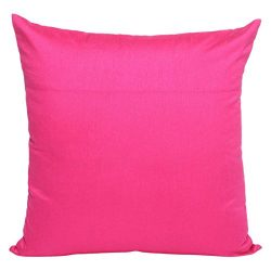 Set of 2 Fuschia Pink Art Silk Pillow Covers, Plain Silk Cushion Cover, Solid Color Fuschia Pink ...