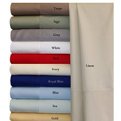 100% Bamboo Bed Sheet Set – Twin Extra Long (XL), Solid Blue – Super Soft & Cool ...