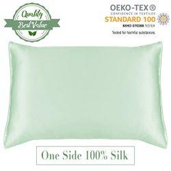 MYK – Natural Silk Facial & Hair Beauty Pillowcase, Hypoallergenic, 19 momme, 100 percent Mu ...