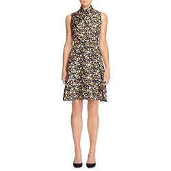 Tory Burch Womens Ryder Silk Floral Print Casual Dress