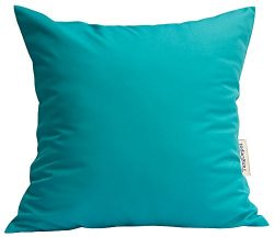 TangDepot Durable Faux Silk Solid Pillow Shams, Square Decorative Pillow Covers, Throw Pillow Co ...