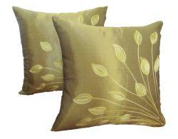 Decorative Thai Silk Throw Pillow Cover Cushion Case Handmade Toss Pillowcase with Hidden Zipper ...