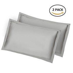 2pcs Silk Pillowcase for Hair and Skin (Grey Pillowcase)