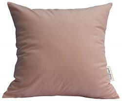 TangDepot Durable Faux Silk Solid Pillow Shams, Euro Shams, European Throw Pillow Covers, Indoor ...