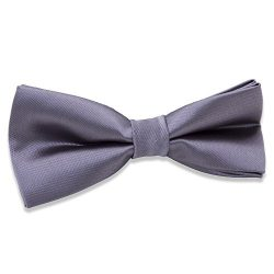 Kids Boys Silk Bow Ties – Adjustable Bowtie for Baby Toddler Gifts (Gray)