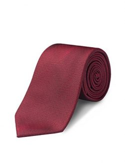 ORIGIN TIES Men's Fashion 100% Silk Solid 3 inches Standard Tie Grenadine