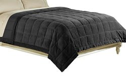 Luxlen Microfiber Blanket, Reversible: Soft Plush to Satin Cool, Staintech Treated, King/Califor ...