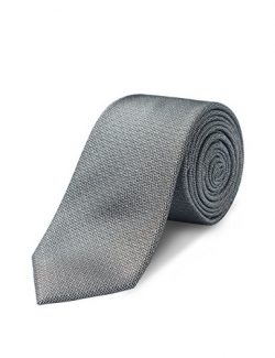 Origin Ties 100% Silk Textured Handmade Solid Herringbone Men's Skinny Tie 2.5″ Neck ...