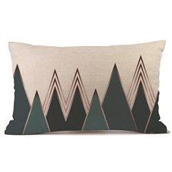 Allywit Rectangle Cushion Cover Silk Throw Pillow Case Pillowcase (B)