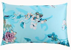 SLPBABY Silk Pillowcase for Hair and Skin with Hidden Zipper Print (Standard, Pattern9)