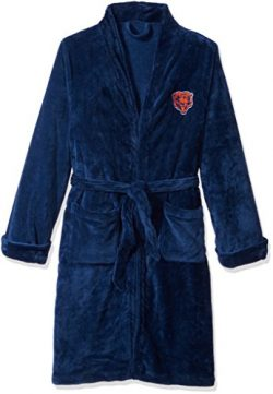 Officially Licensed NFL Chicago Bears Men's Silk Touch Lounge Robe, Large/X-Large