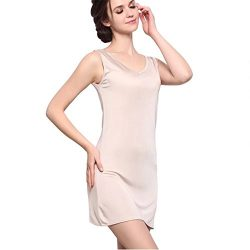 Zylioo 100% Mulberry Silk Cap Sleeve Full Slips Dresses Layering Tee Comfy Slim Fit Camisole Und ...