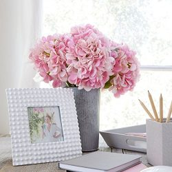 Artificial Hydrangea Silk Flowers for Wedding Bouquet, Flower Arrangements – Pink Color, 5 ...
