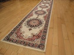 Silk Persian Ivory Area Rugs Cream Living Room High Dense Luxury Rug 2×8 Hallway Runner Rug ...