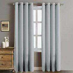 Rose Home Fashion RHF Blackout Thermal Insulated Curtain-white blackout curtains-Grommet curtain ...