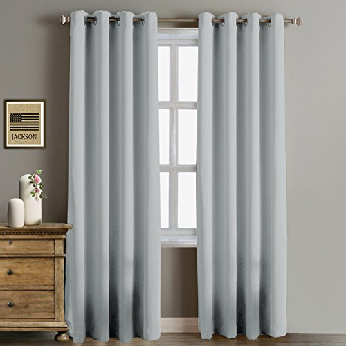 Rose Home Fashion RHF Blackout Thermal Insulated Curtain-white blackout curtains-Grommet curtain ...