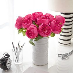 Artificial Peony Silk Flower Bouquet for Wedding Floral Arrangements and Home Decoration – ...