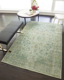 Rugs America Hyperion Blue-Green Rug 4′ x 6′