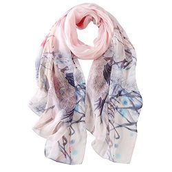 STORY OF SHANGHAI Womens 100% Mulberry Silk Head Scarf For Hair Ladies Silk Scarf Gift for Valen ...