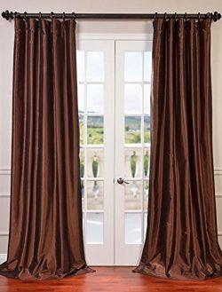 Half Price Drapes PTCH-BO209-120 Copper Blackout Faux Silk Taffeta Curtain, 50″ x 120&#824 ...