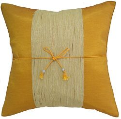 Avarada 16×16 Inch (40×40 cm) Striped Crepe Decorative Throw Pillow Covers Case Cushio ...