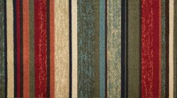 Non-skid Rubber Backed Accent Rug Doormat 18″x31″ Contemporary Stripes, Floor Entry  ...