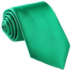 Fortunatever St. Patrick's Day's Men's Handmade Tie,Solid Necktie With Gift Bo ...