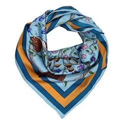 Silk Scarf Luxurious Square Scarf – Pantonight 100% Pure Silk 14MM Hand Rolling Edge Silk  ...