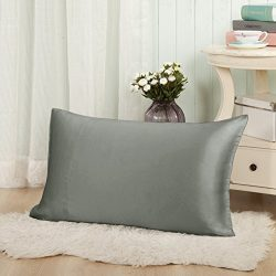 THXSILK 19mm Mulberry Silk Pillowcase for Baby Toddler Decorative Cushion Cover Travel 12×1 ...