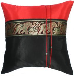 SALE 75% OFF Artiwa Black & Red Vintage Silk Decorative Pillow Case Cushion Cover for Sofa C ...