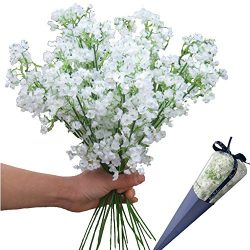 12pcs Artificial flowers Gypsophila Baby's Breath Bouquet Silk Baby Breath Flowers for Hom ...