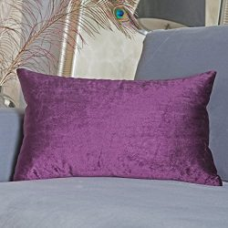 Home Brilliant Outdoor Lumbar Solid Throw Pillow Cover Decorative Cushion Cover for Patio/Couch/ ...