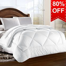 Queen Comforter Duvet insert with Corner Tabs for Duvet Cover 2100 Series, Snow Goose Down Alter ...