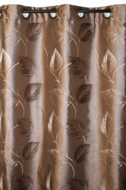 Ellis Curtain Astonish 50 by 63-Inch Embroidered Leaf Grommet Top Lined Window Treatment Panel,  ...