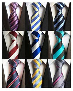 AVANTMEN 6 PCS Classic Men's Neckties Woven Jacquard Neck Ties Set (9 Pack-style D)