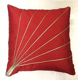 Red Pillow Cover Cushion Case – 20″ X 20″ – Set of 2 (Insert Not Included)