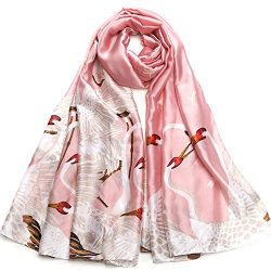 Sleep Koala Women Silk Scarf Large Satin Hair Scarves Fashion Pattern Wrap Shawl