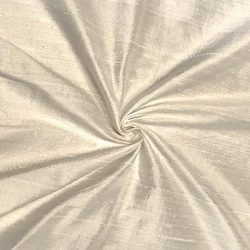 100% Pure Silk Dupioni Fabric 54″ Wide BTY Drape Blouse Dress Craft (Off White)