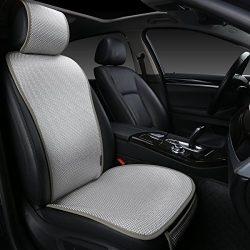 EDEALYN 1 Piece Breathable Ultra-thin Ice silk Non-slip Car Seat Cushion Car Seat Cover Car inte ...