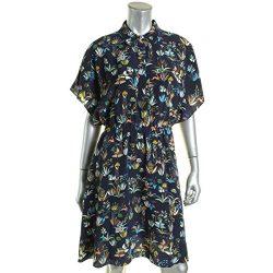 Tory Burch Womens Ryan Printed Short Sleeves Casual Dress