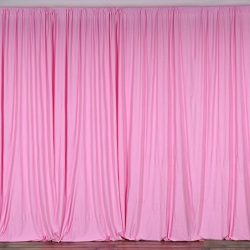 BalsaCircle 10 feet x 10 feet Pink Polyester Backdrop Drapes Curtains Panels – Wedding Cer ...