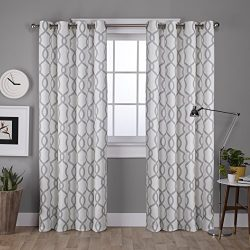 Exclusive Home Curtains Kochi Grommet Top Window Curtain Panel Pair, 63″ Length, Dove Grey ...